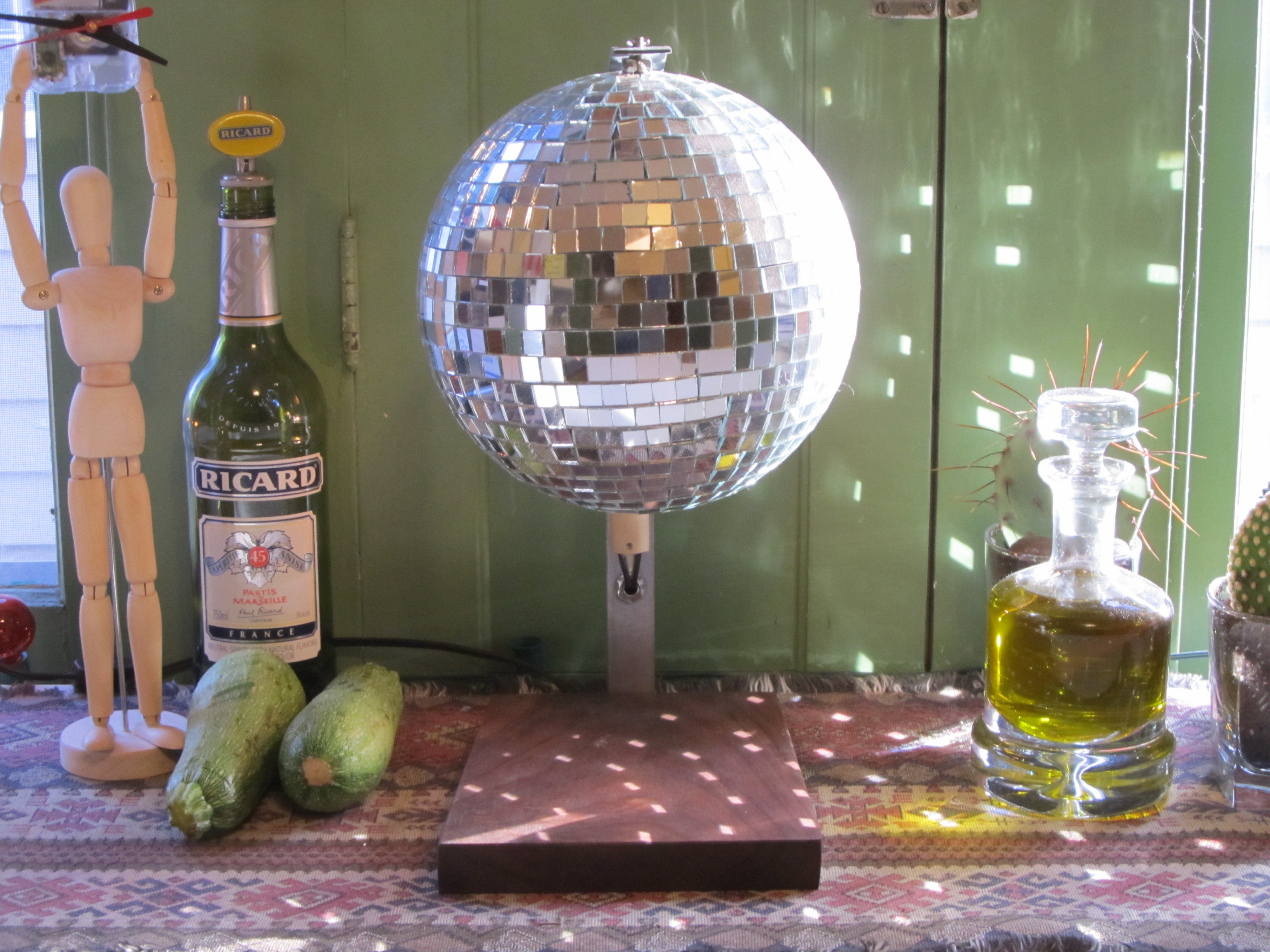 http://www.etsy.com/listing/93174280/recycled-disco-ball-lamp