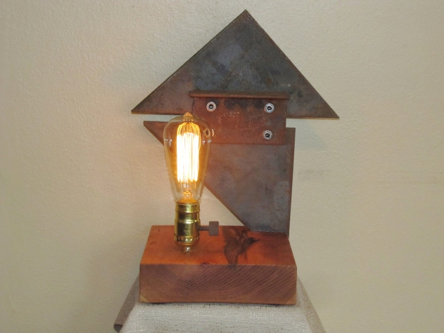 2 found object lamps 013