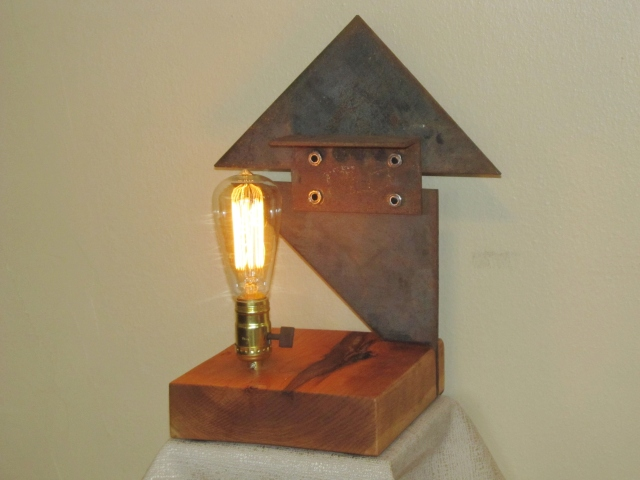 2 found object lamps 014